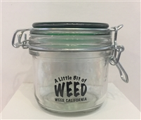 Large Stash Jar - Green Lid